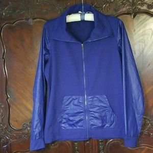 Under Armour sx XL high collar jacket blue
